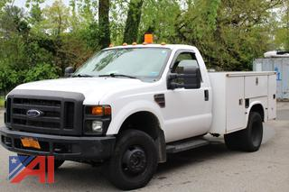 2008 Ford F350 XL Super Duty Utility Truck with Lift Gate