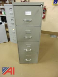 Legal Four Drawer Locking Filing Cabinet