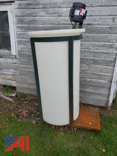 Poly Mixing Tank 100 Gallon with Motor