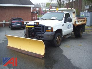 2006 Ford F350 XL Super Duty Dump Truck with Plow