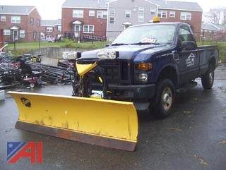 2008 Ford F250 XL Super Duty Pickup Truck with Plow and Liftgate