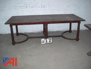 Antique Wooden Table with Chairs