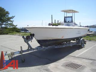 1997 Alcar 21' Pump Out Boat and Trailer