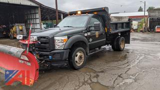 2016 Ford F550 Super Duty Dump Truck with Plow & Spreader