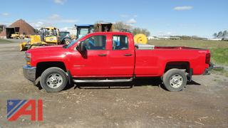 2016 Chevy Silverado 2500HD Pickup Truck with Toolbox