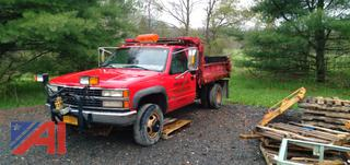 1998 Chevy C/K 3500 Dump Truck with Plow