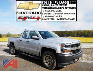 REDUCED BP 2018 Chevy Silverado 1500 Crew Cab Pickup Truck