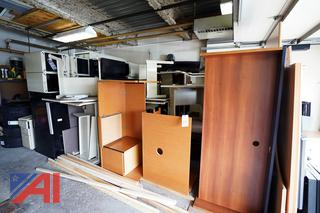 Lot Unassembled Desk Systems & Files