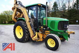 2007 John Deere 6415 Tractor with Tiger Boom Mower