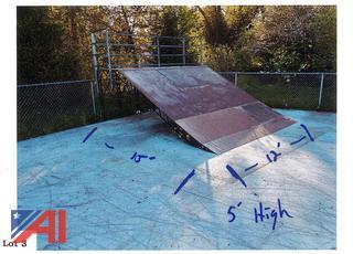 15' x 12' Single Skate Park Ramp