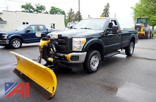 2016 Ford F250 SRW XL Super Duty Pickup Truck with Plow