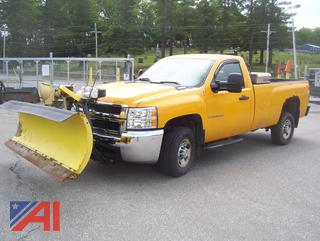 2009 Chevy Silverado 2500HD Pickup Truck with Plow