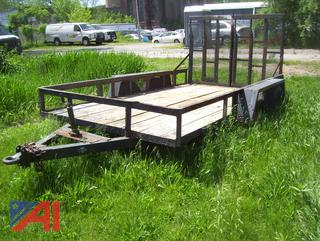 2005 12' x 6.5' Wood Deck Trailer with Ramp