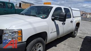2008 Chevy Silverado Crew Cab Pickup Truck with Cap