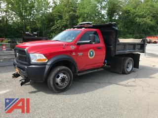 2012 Dodge Ram 5500 Dump Truck with Sander and Plow