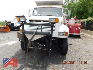 (#770)  1990 International 4800 Salter Truck
