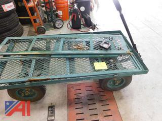 Green Metal 4 Wheel Wagon