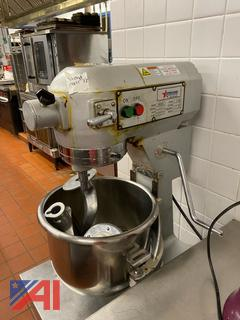 Omcan Stand Mixer & Stainless Steel Prep Table