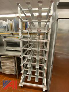 Stainless Steel Can Rack on Wheels