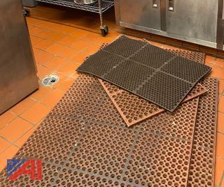 Floor Mats, Rack and Wood Top Table