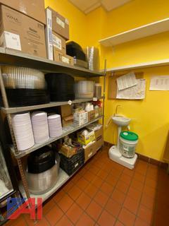 Portable Sink, Catering Supplies, Shelving Units, Fridge
