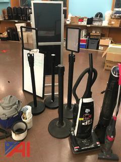 Shop Vac, Vacuum, Sign Holders & More