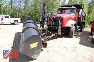 2010 Mack GU812 Dump Truck with Slide in Sander, Plow and Wing