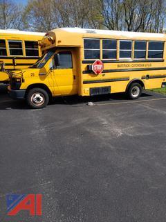 2008 Mirco Bird E450 Mini School Bus with Wheelchair Lift