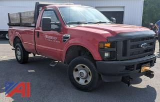 2009 Ford F350 XL Super Duty Pickup Truck with Dump & Plow