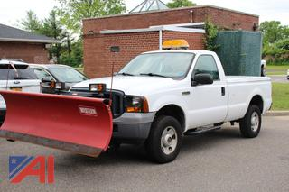 2006 Ford F250 XL Super Duty Pickup Truck with Plow