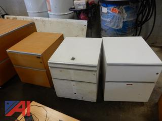 Large and Small Lateral File Cabinets