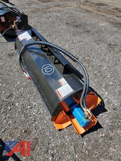 """2021 Skid Steer 73"""" Mower King Rotary Tiller"""