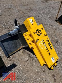 2021 Skid Steer AGROTK Hydraulic Post Driver