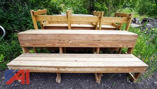 8' Wooden Dugout Benches