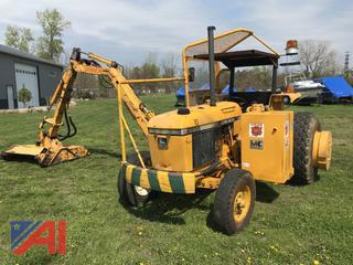 1987 John Deere 2555 Tractor with Tiger Boom Mower