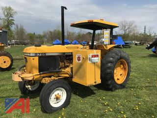 1989 John Deere 2555 Tractor with Tiger Boom 7' Flail Mower