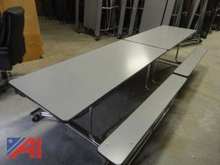 12' Folding Roll Away Cafeteria Tables