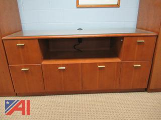 Conference Room Table with Storage Units