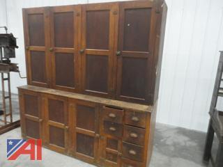 Vintage Two Piece 7' Wide Cupboard