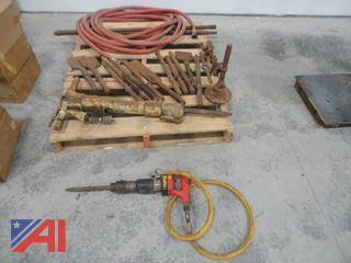 Jack Hammers with Points, Chisels & Hose