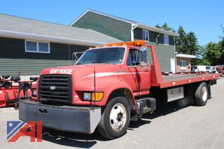 1998 Ford F800 Series Flatbed Truck