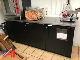 True Three Door Counter Refrigerator