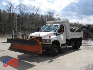 2008 GMC C5500 Dump Truck with Plow