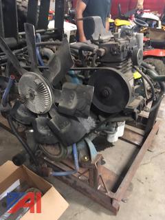 1995 DT466 International Motor w/ Clutch & Transmission