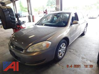 (#5525) 2006 Chevy Impala 4 Door/Police
