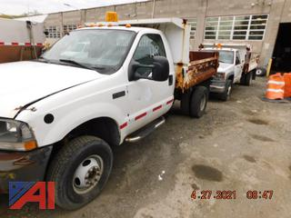 (#118) 2003 Ford F350 XL Super Duty Dump Truck