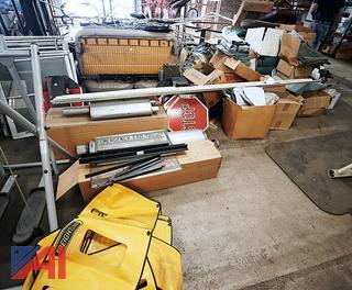Large Pile Of Surplus Stock In Loft