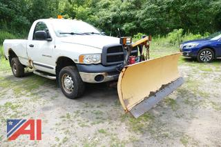 2004 Dodge Ram 2500 Pickup Truck with Plow
