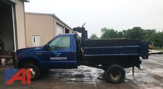 1999 Ford F350 Super Duty Pickup with Dump & Plow