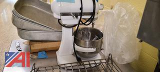 Kitchen Aid Mixer with Bowl and Tools